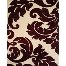 Melody Wine Vines Damask Rug
