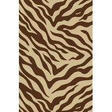 Kings Court Brown Zebra Animal Print Rug
