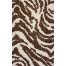 Madison Shag Brown Safari Rug