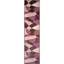 Melody Purple Coaster Rug