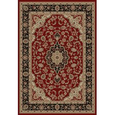 Barclay Red Medallion Kashan Rug
