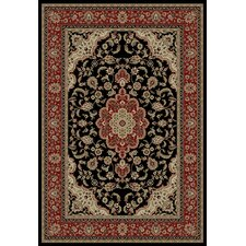 Barclay Black Medallion Kashan Rug