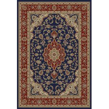 <strong>Infinity Home</strong> Barclay Navy Medallion Kashan Rug