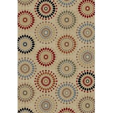 Barclay Ivory Orchid Fields Dots Rug