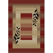 Barclay Red Molly Twigs Rug