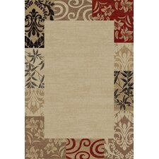 Barclay Vane Willow Damask Patch Border Rug