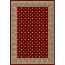 Barclay Red Hudson Terrace Border Rug
