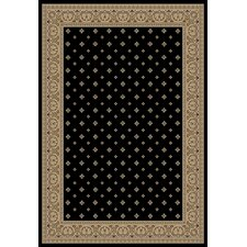 Barclay Black Hudson Terrace Border Rug