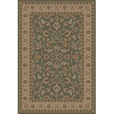 Barclay Green Sarouk Border Rug