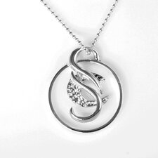 Cancer Survivor Large Sterling Silver Pendant Necklace by CaSu Design