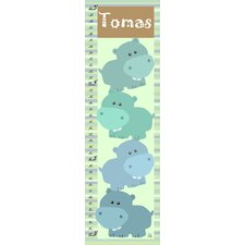 Stacked Hippos Personalized Growth Chart