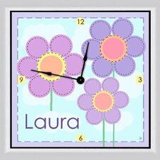 "Flowers Personalized 11"" Art Wall Clock"