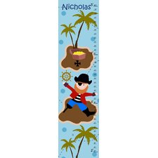 Pirate and Treasure Personalized Growth Chart