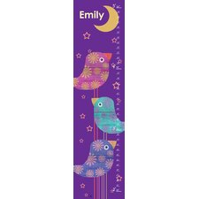 Birds and Moon Personalized Growth Chart