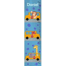 School Buses Personalized Growth Chart