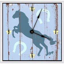 """Cowboy's Horse 16"""" Art Wall Clock"""