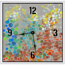 "Party Circles 11"" Art Wall Clock"