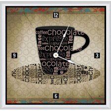 "Chocolate Cup 11"" Art Wall Clock"