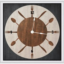 "Circle Silverware 11"" Art Wall Clock"