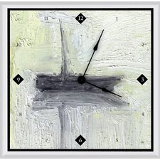 "<strong>Green Leaf Art</strong> Boat II 11"" Art Wall Clock"