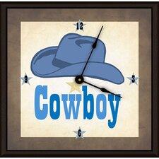 """Cowboy Hat 16"""" Art Wall Clock"""