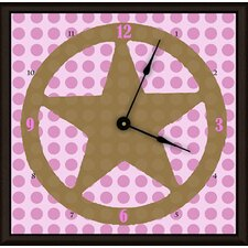 Lone Star Girl Art Clock