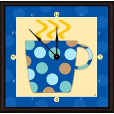 "Coffee Cups 11"" Art Wall Clock"