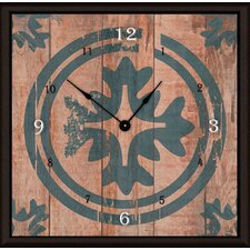 "<strong>Green Leaf Art</strong> Floral Target 11"" Art Wall Clock"