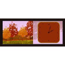 <strong>Green Leaf Art</strong> Fall Forest Art Clock