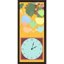 <strong>Green Leaf Art</strong> Fruits Garden I Art Clock