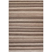 Tracks Striped Knotted Rug