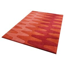 Impression Red Knotted Rug