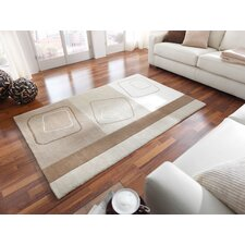 Impression Ivory / Brown Knotted Rug