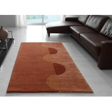 Impression Terracotta Knotted Rug