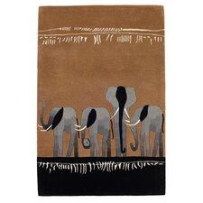 Kalahari Elephant Brown Tufted Rug