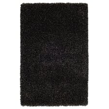 Plain Black / Grey Shag Rug