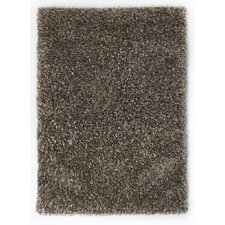 Ribbon Silver / Grey Shag Rug