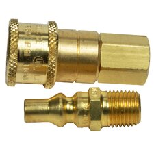 "Propane or Natural Gas 1/4"" Quick Connector and Excess Flow Male Plug"