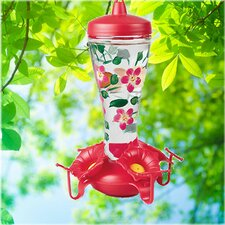 <strong>Birdscapes</strong> Hand Painted Glass Hummingbird Feeder