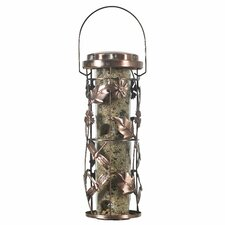 Copper Garden Decorative Caged Bird Feeder