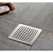 "<strong>QuARTz by ACO</strong> 6"" Pixel Bathroom Shower Drain"