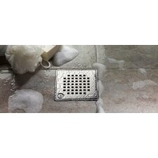 "6"" Quadrato Bathroom Shower Drain"