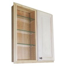 "Baldwin 29.5"" x 31.5"" Single Door Recessed Medicine Cabinet"