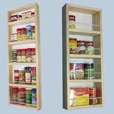 2 Piece On the Wall Dual Depth Spice Rack Set