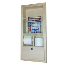 <strong>WG Wood Products</strong> In the Wall Magazine Rack with Double Toilet Paper and Storage Cubby