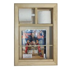 <strong>WG Wood Products</strong> Bevel Frame In the Wall Magazine Rack and Toilet Paper Holder