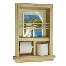 <strong>WG Wood Products</strong> Recessed Magazine Rack and Toilet Paper Holder