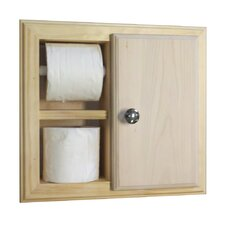 In the Wall Toilet Paper Holder with Storage