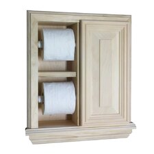 <strong>WG Wood Products</strong> In the Wall Deluxe Toilet Paper Holder