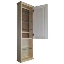 "<strong>WG Wood Products</strong> Ashley Series 15.25"" x 49.5"" Surface Mount Medicine Cabinet"
